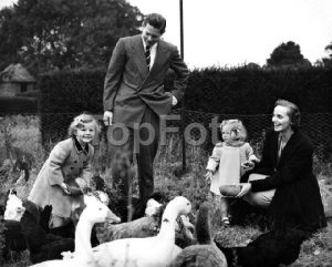 Royal exiles live in Shaw village Feeding the chickens and the ducks aided by their royal mother and father are Princess Margaret (3 1/2) and Princess Helen (2) , children of Ex-king Michael of Romania and Princess Anne of Bourbon Parma. This picture of the royal exiles was taken at Ayot House, Ayot St Lawrence , Herts , which they have rented from Lord Brocket . 24 September 1952