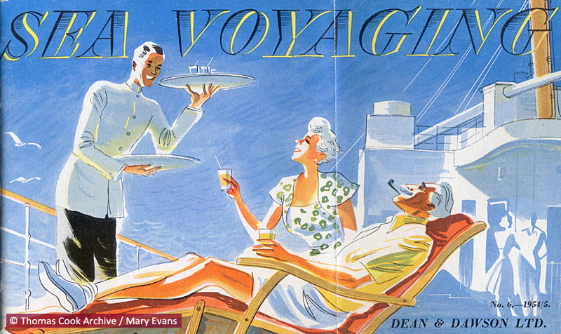 Brochure front cover advertising Thomas Cook's travel service.     Date: 1954 - 1955