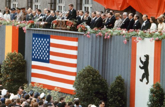 John F. Kennedy speaking near the Berling wall