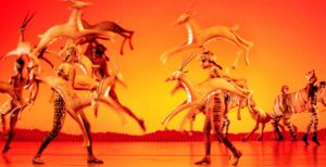 The Lioness Hunt from Disney's THE LION KING at the Lyceum Theatre, London in 1999 ©Donald Cooper/Photostage