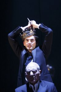 David Tennant and Patrick Stewart in HAMLET at the RSC in Stratford-upon-Avon in 2008 ©Donald Cooper/Photostage