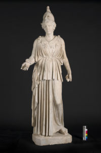 SCULPTURE. ATHENA.COURTESY NATIONAL MUSEUMS LIVERPOOL, WORLD MUSEUM LIVERPOOL.