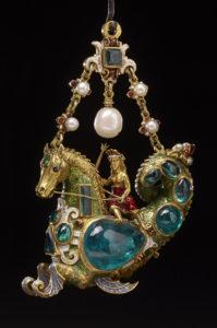 Hippocamp Pendant with female rider, Spain, late 16th century © The British Museum / Trustees of the British Museum