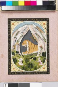 'Leo, or Sinha, the zodiac sign, shown as a tiger in a cave' Image © Ashmolean Museum, University of Oxford.