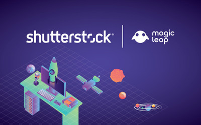Magic Leap Integrates Shutterstock Visuals to Power Its Gallery And Screens Application for Developers (PRNewsfoto/Shutterstock, Inc.)
