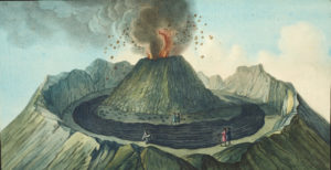 Interior view of the crater of Mount Vesuvius, as it was before he great eruption of 1767.© The Natural History Museum, London