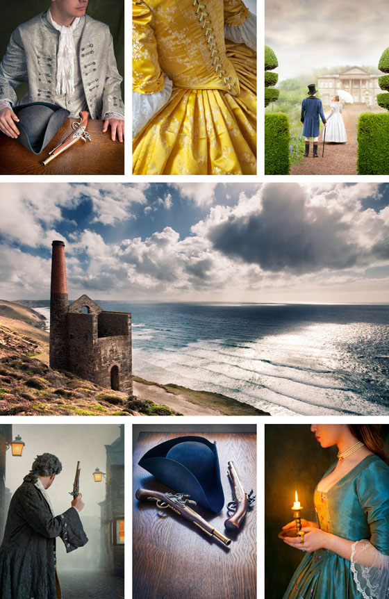 Poldark themed collage