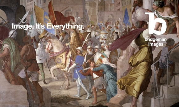 The Army of Charlemagne in Paris (fresco), Julius Schnorr von Carolsfeld (1794-1872) / Casino Massimo, Rome, Italy