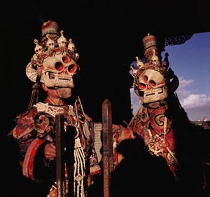 Mongolian Tsam Temple Dancers ©Werner Forman Archive