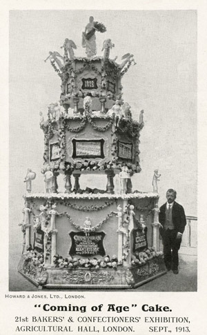 A 'Coming of Age' Cake - Bakers' & Confectioners' Exhibition © Mary Evans Picture Library