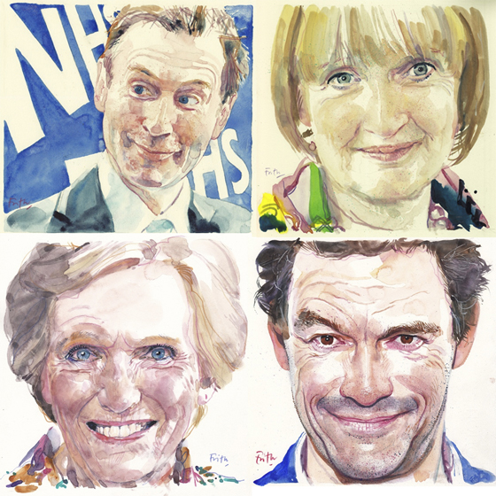 Jeremy Hunt - Harriet Harman - Mary Berry - Dominic West ©Michael Frith. All Rights Reserved