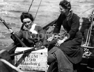 Molly Childers on Asgard, smuggling guns from Germany to Howth, July 1914, ready for the Easter rising of 1916 ©TopFoto