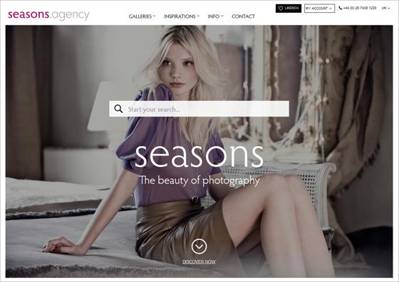 seasons.agency homepage screenshot