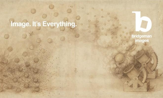 Codex Atlanticus, sheet 33 recto, Study for two mortars firing explosive bombs. Leonardo da Vinci (1452-1519) / Veneranda Biblioteca Ambrosiana, Milan, Italy / © Veneranda Biblioteca Ambrosiana/Metis e Mida Informatica/Mondadori Portfolio / Bridgeman Image