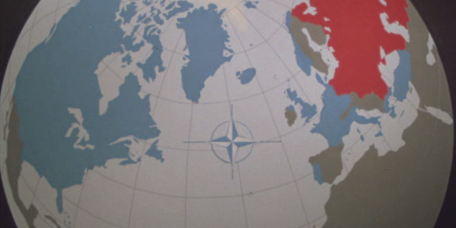 world map with nato logo