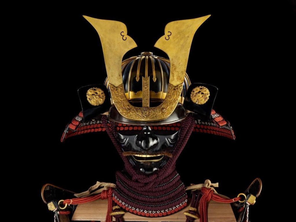 Armour (domaru) presented to King James I by Tokugawa Hidetada in 1613