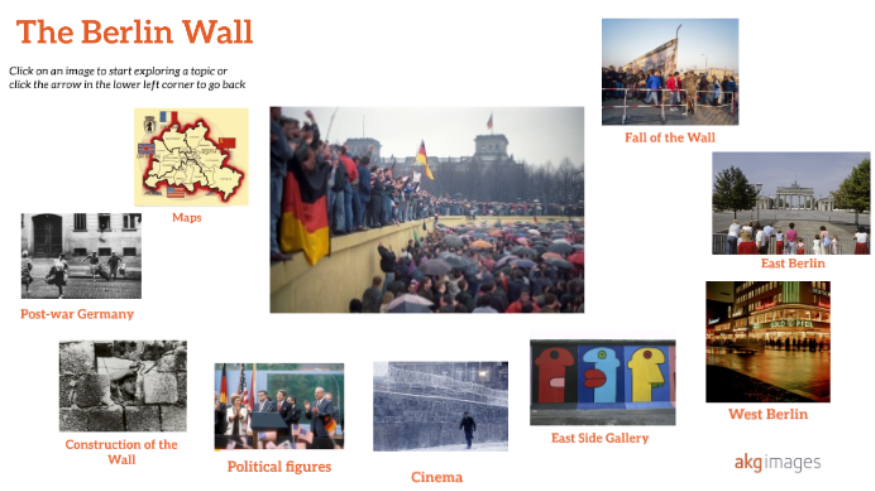 History of Berlin Wall Montage