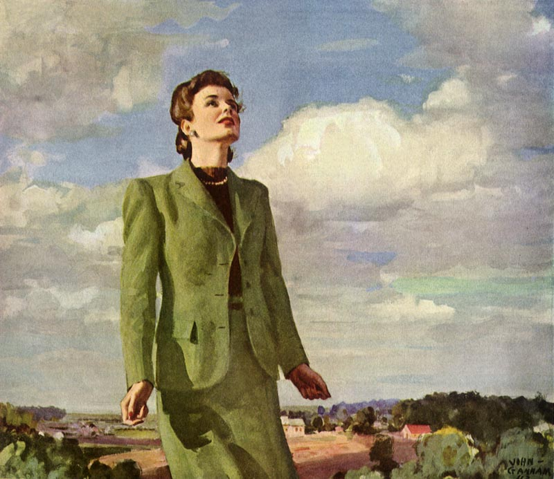 Inspired Woman looks to the Sky     Date: 1944