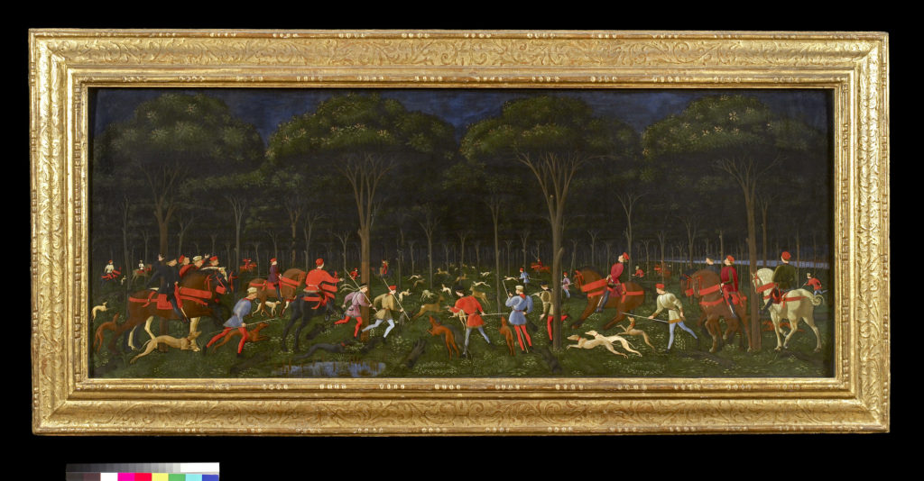 Paolo Uccello, 'The Hunt in the Forest' Image © Ashmolean Museum, University of Oxford.