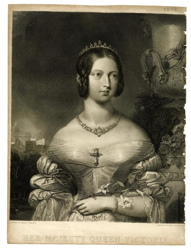 Engraving of her majesty, Queen Victoria, Britain, 19th century, engraved by James Posselwhite