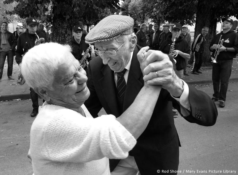 Elderly couple dancing Italy.     Date:
