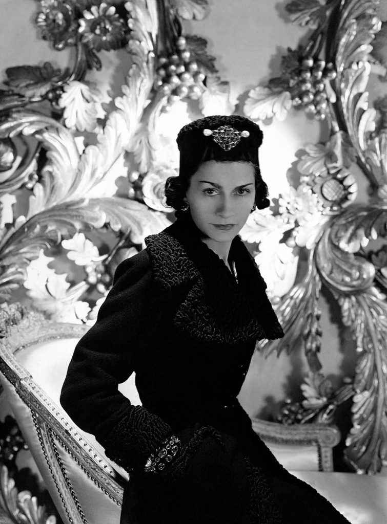 Coco Chanel wearing one of her designs for Vogue 1937. Photo Credit: Horst P Horst/Condé Nast/Shutterstock