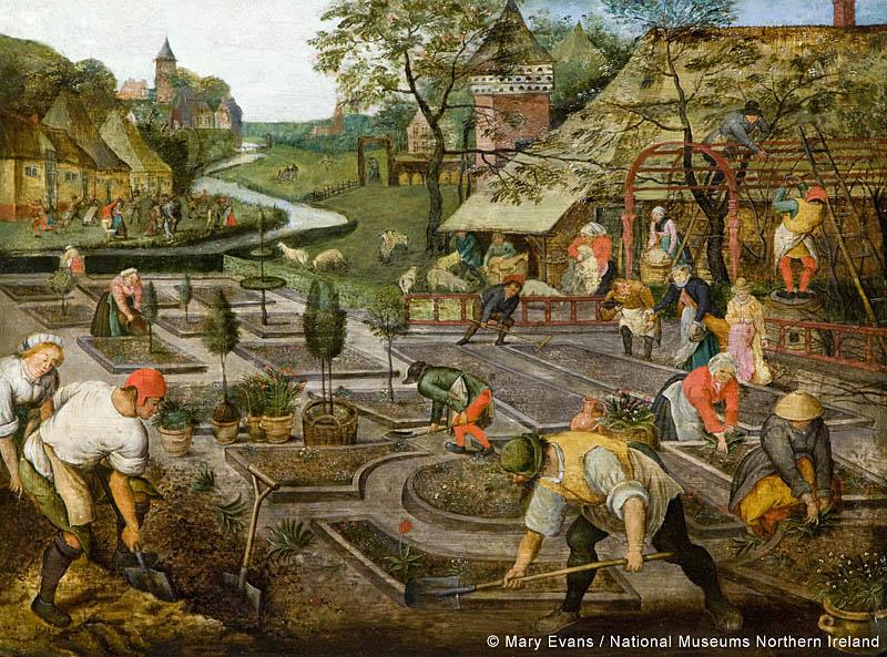 Spring (1633). Brueghel, Pieter II 1564-1638 (after). Date: 1633