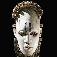An ornamental hip mask.