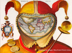16th century Jesters Cap map of the world 1590