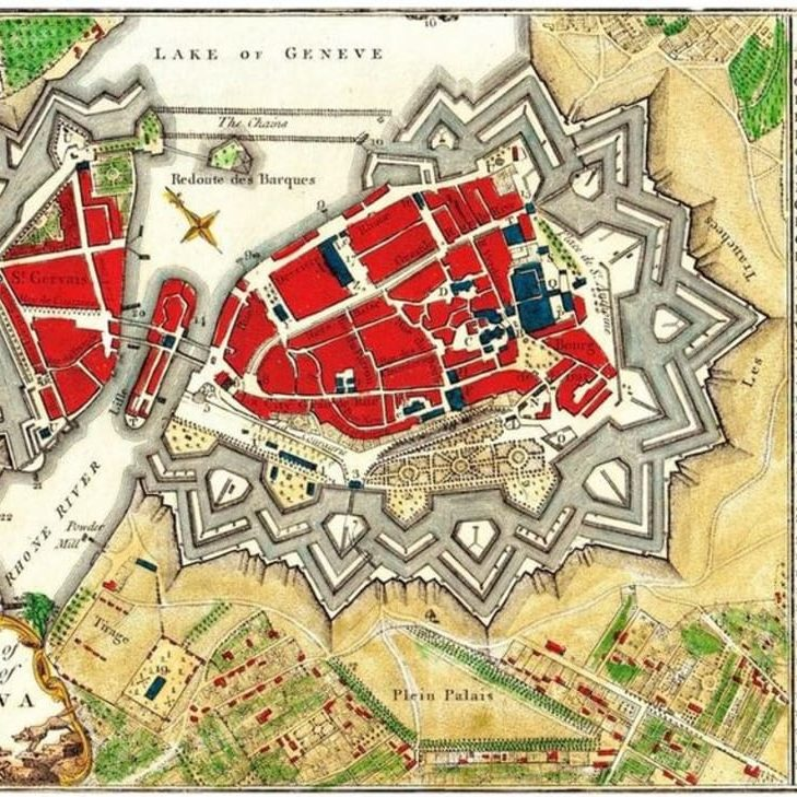 A plan of the city of Geneva, published by J. Stockdale, Piccadilly 1800.