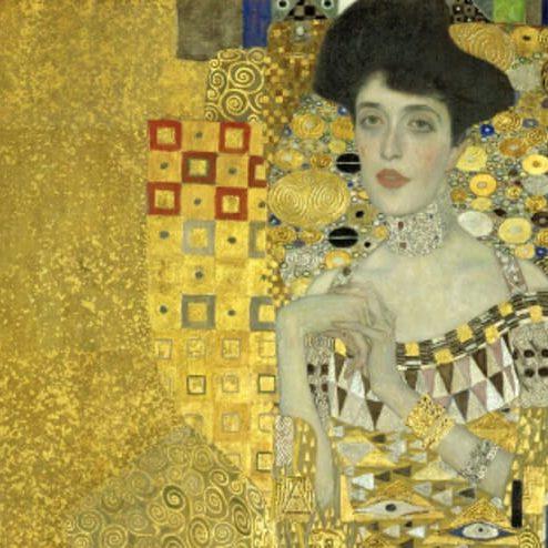 3-K72-R2-B (42134) 'Adele Bloch-Bauer I' Klimt, Gustav 1862-1918. 'Adele Bloch-Bauer I', 1907. Öl/Gold auf Leinwand, 138 x 138 cm. New York, Neue Galerie. E: 'Adele Bloch-Bauer I' Klimt, Gustav 1862-1918. 'Adele Bloch-Bauer I', 1907. Oil and gold leaf on canvas, 138 x 138cm. (c) Erich Lessing / AKG London. New York, Neue Galerie. F: 'Portrait de Adèle Bloch-Bauer I' Klimt, Gustav ; 1862-1918. 'Portrait de Adèle Bloch-Bauer I', 1907. Huile et or sur toile ; H. 1,38 ; L. 1,38. New York, Neue Galerie. ORIGINAL: Mrs. Adele Bloch-Bauer. Oil on canvas (1907) 138 x 138 cm Oesterreichische Galerie im Belvedere, Vienna, Austria