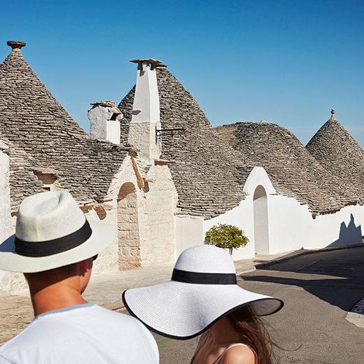 Italy, Apulia, Bari district, Itria Valley, Alberobello, Alberobello, famous for its unique trullo buildings