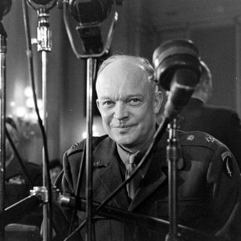 Dwight David Eisenhower attending Committee hearing in Washington, District of Columbia, 1945 (Photo by Marie Hansen/The LIFE Picture Collection via Getty Images)