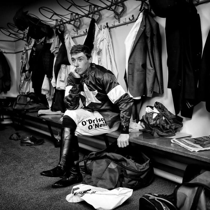 Jockey Jack Kennedy in the changing rooms during Ladies Day of the 2019 Cheltenham Festival at Cheltenham Racecourse. Photo credit should read: David Davies/The Jockey Club via PA Images
