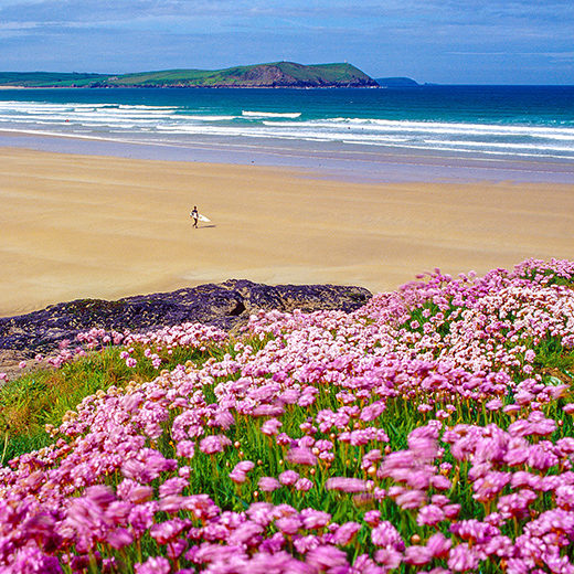 United Kingdom, England, Cornwall, Great Britain, New Polzeath beach